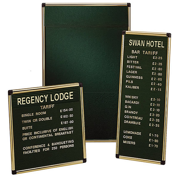 Grooved Felt Welcome Board | Wall Mounted