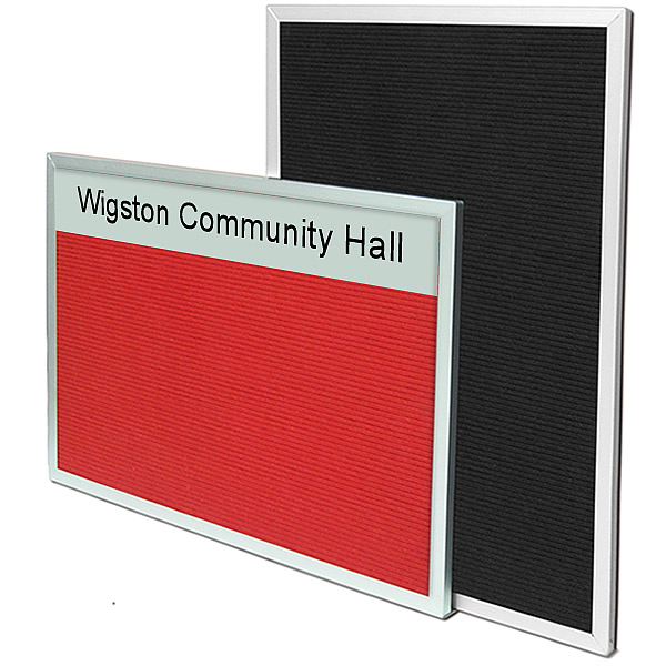 Variatex Grooved Felt Flat Framed Welcome Board | with Optional Printed Title Plate