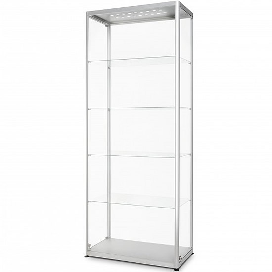Prime Led Illuminated Glass Showcase 800Mm Wide White Light Display Download Free Architecture Designs Embacsunscenecom