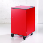 MM100 Colour Multi-Media Cabinet Red