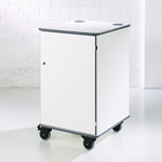 MM100 Colour Multi-Media Cabinet White
