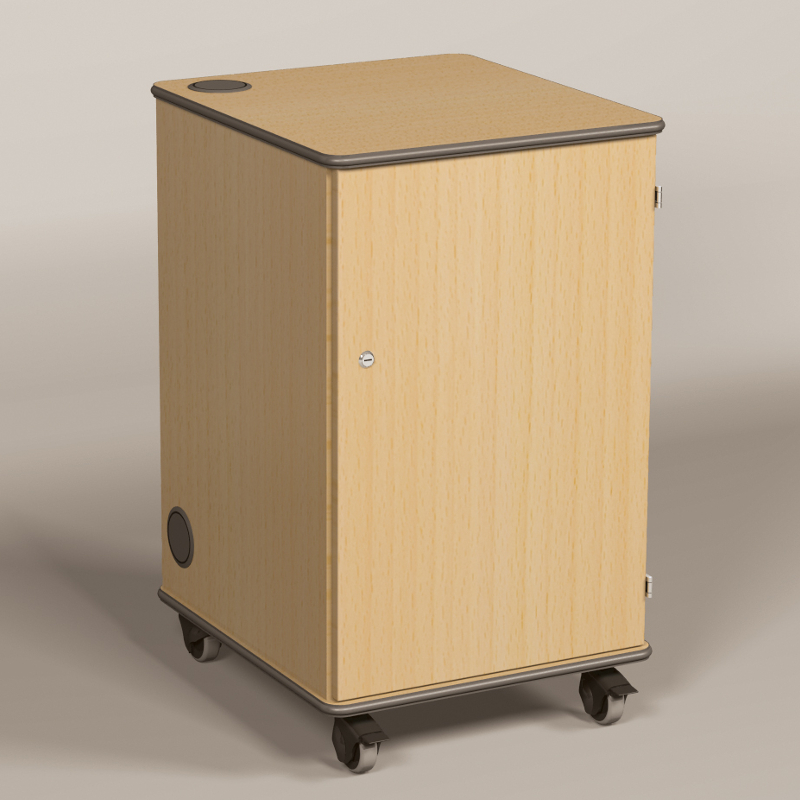 MM80 Multi Media Projector Cabinet Beech