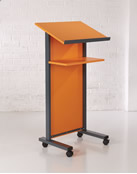 Panel Front Lectern in Orange