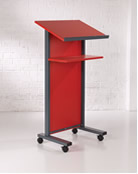 Panel Front Lectern in Red