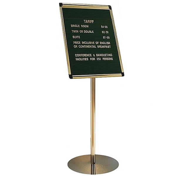 Variatex Grooved Felt Welcome Board | Stand Mounted