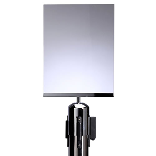 A4 Portrait Paper sign Holder For Retractable Barrier Post | Post Not Included