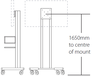 Plasma & LCD Mobile TV Stand Dimensions