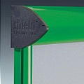 Shield External Notice Board Green