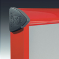 Shield External Notice Board Red