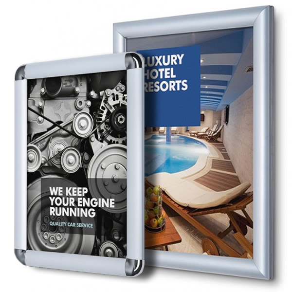 0d2492e0f170 Silver Aluminium Snap Frame Poster Display - Great Prices White ...