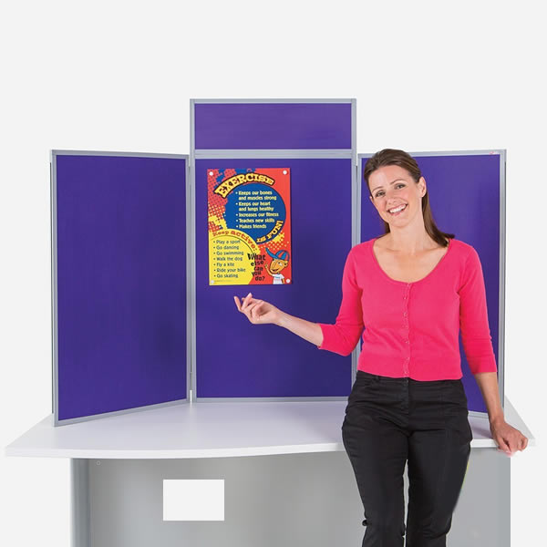 BusyFold Portrait Table Top Display | Aluminium or PVC Framed