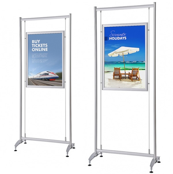 Elypse Freestanding Snap Frame Poster Display White Light Display