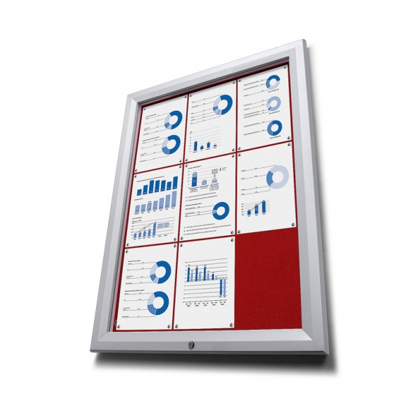 Red Felt Notice Board